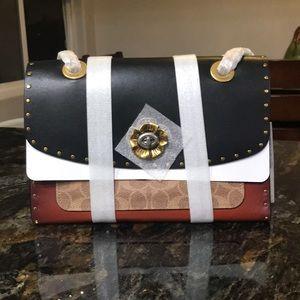 Coach Parker leather & genuine snakeskin bag
